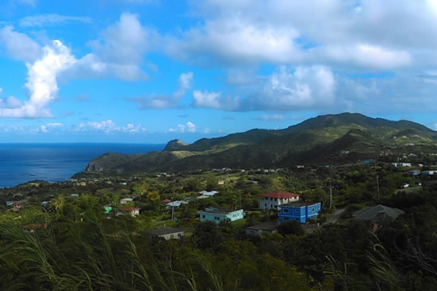 Breathtaking view of the northern villages of Brades, Manjack, Davy Hill and St. John's.