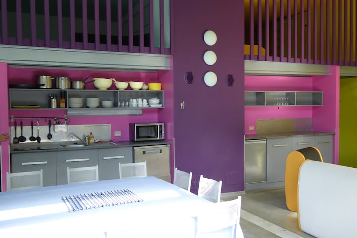 Loft XL, idéal pour grandes familles ou entre amis - Antraigues-sur-Volane - Apto. en complejo residencial