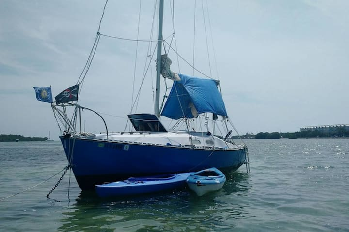 Small Peaceful Sailboat w/Kayak (s) - Key West