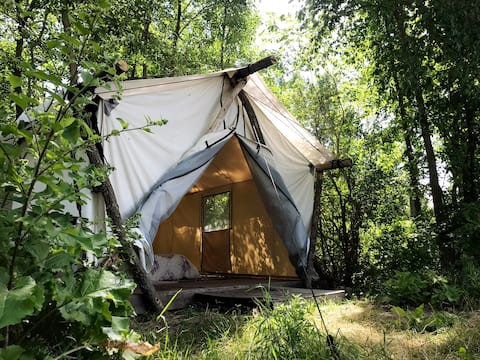 Manitoulin Permaculture Gardenside South Tent