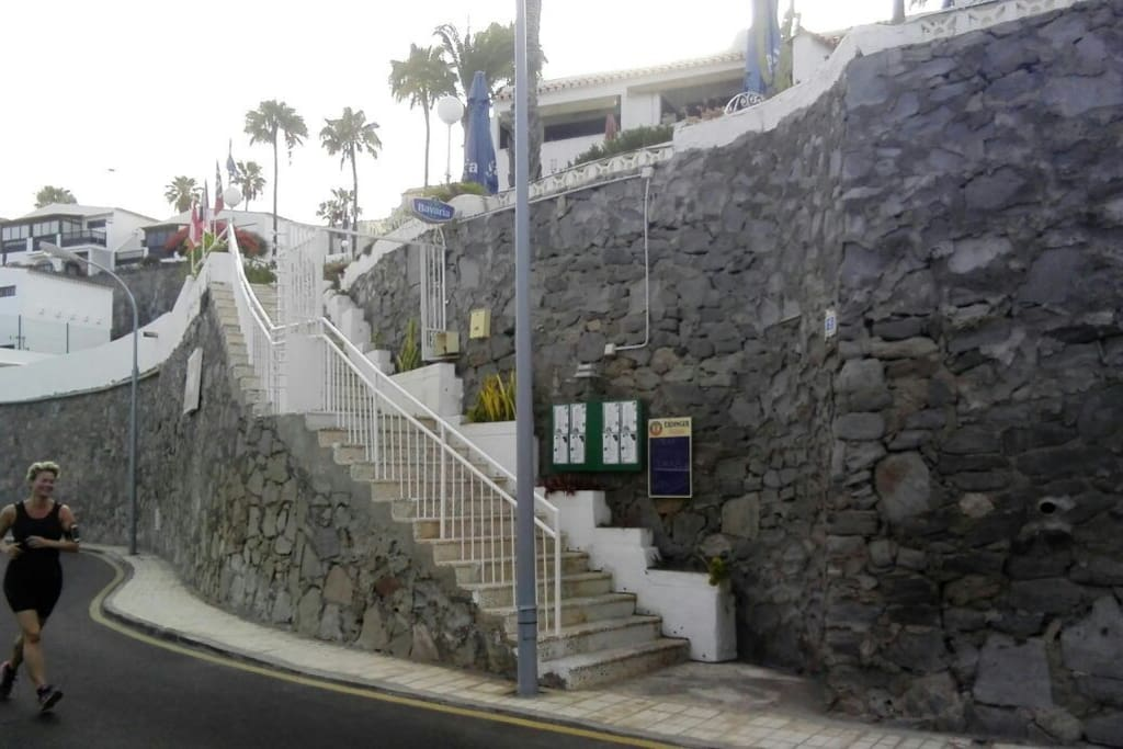 Lower Gate (Puerta de abajo) of Bungalows PANORAMA at Avenida los Guaires, 15