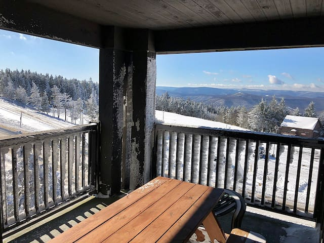 Rimfire 352- THE  LEISURELY LAIR- 2 bedroom, Village Center, Massive Deck and VIEWS! VIEWS!