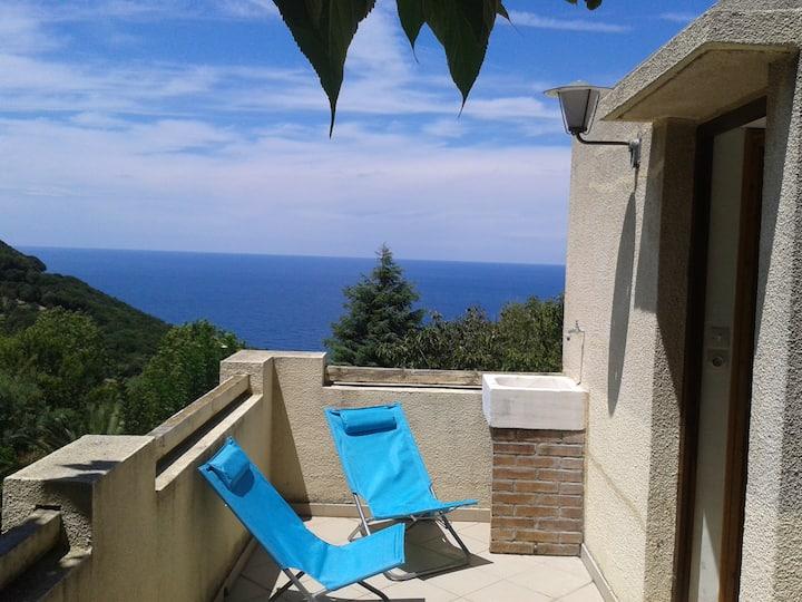 Maison à Pino vue sur mer jusqu'à 8 personnes