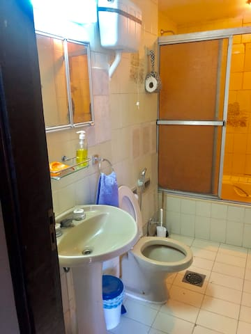 Spacious room and private bathroom