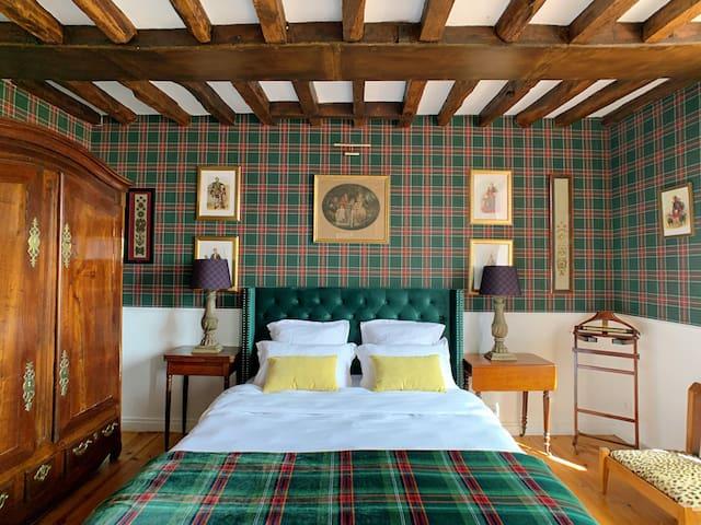 La chambre «Les Ecossais» au Château Salverte