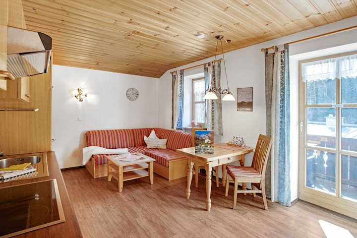 Apartment Enzian with Balcony, Mountain View & Wi-Fi; Parking Available