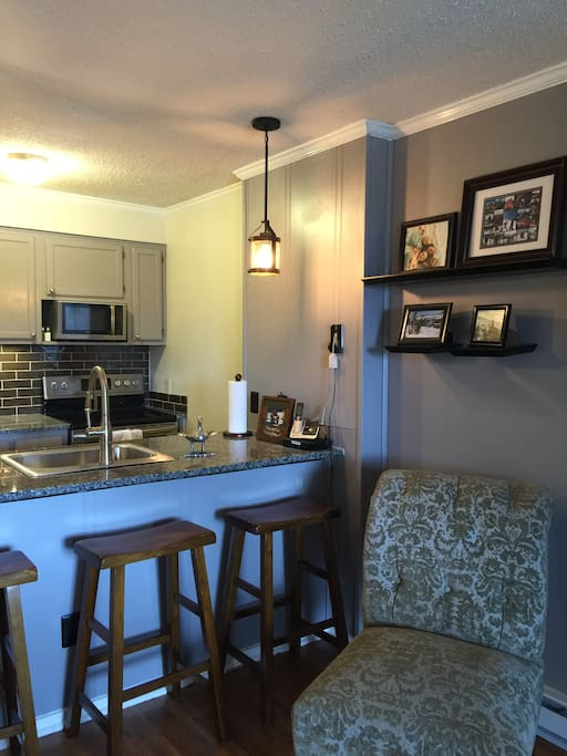 The ski condo that has it all! New granite counters and full size appliances.