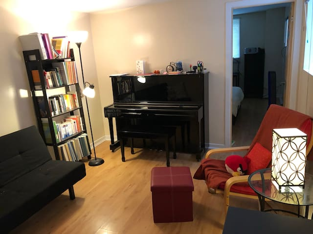 Clean, Soundproof, ENTIRE Apartment with Piano!