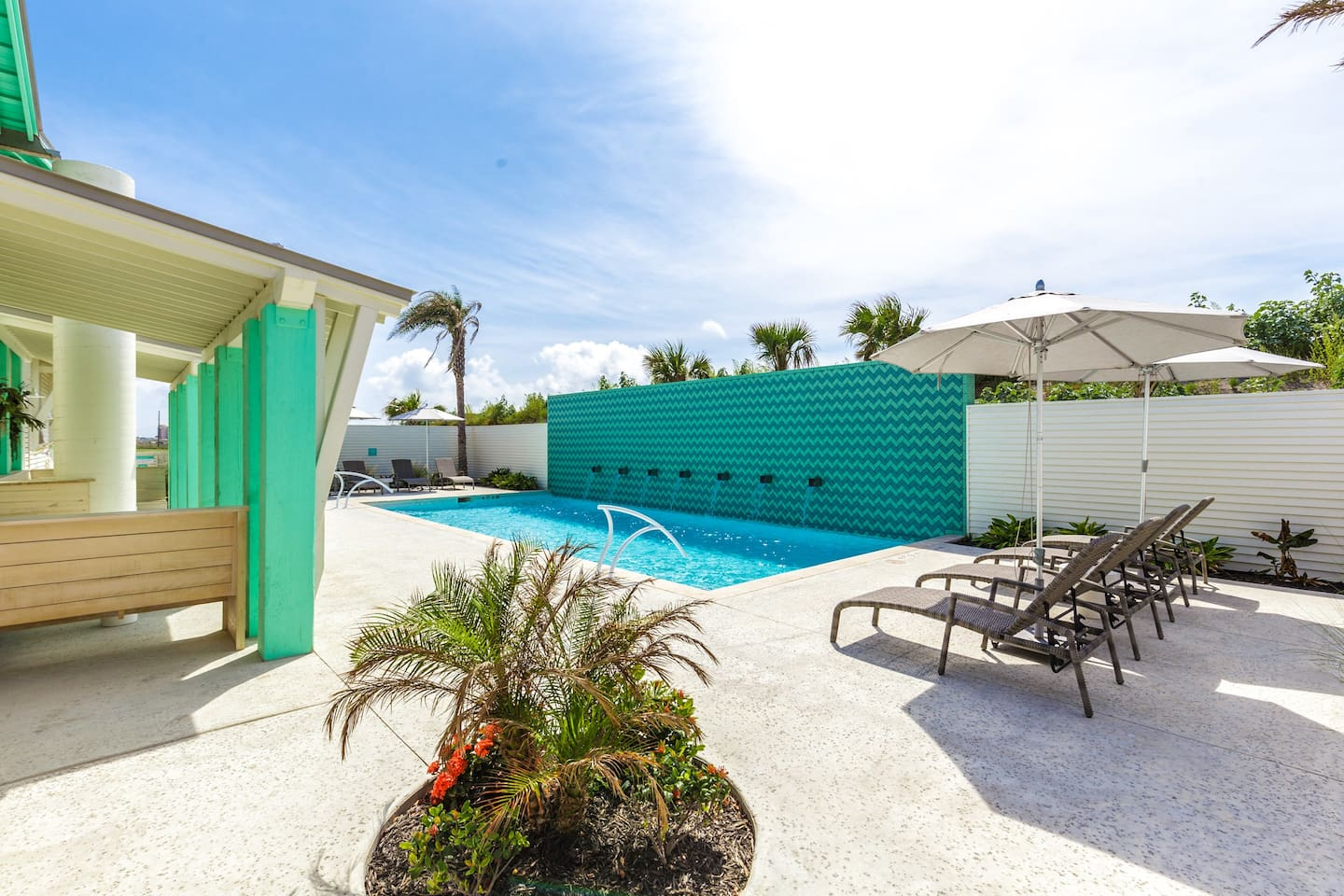 Sunflower Beach Resort features two sparkling community pools, including an adult-only area.