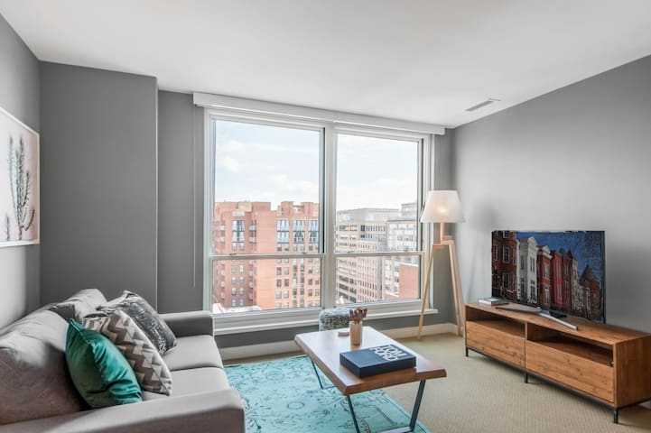 Penn Qtr 1BR w/ Great Views + Gym, near Metro by Blueground