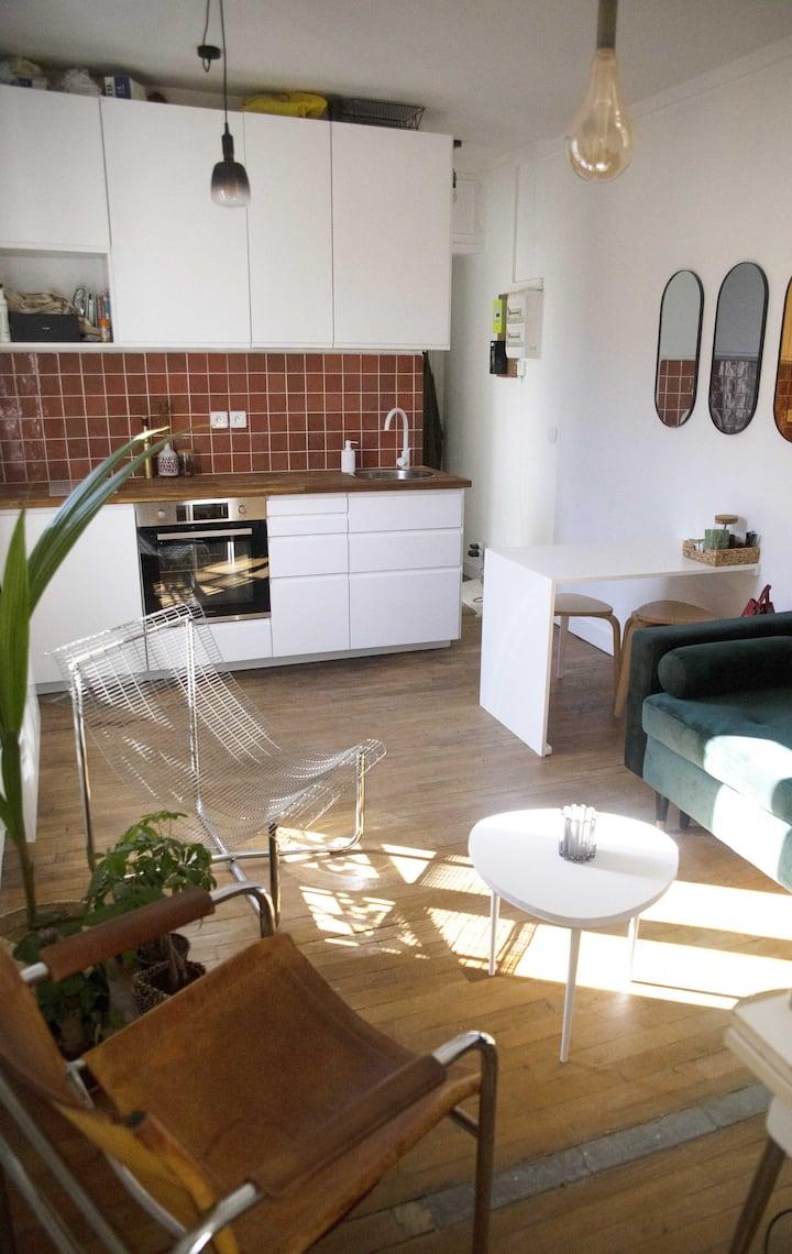 Appartement 2 pièces avec vue sur le Canal