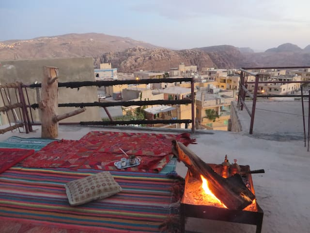 Rooftop tent, Bedouin village of Petra