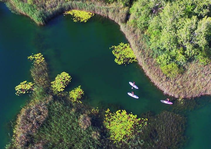 Exploring hidden parts of Bacina Lakes