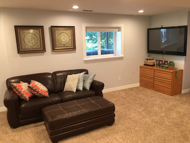 Clean/Comfy Basement w/Private Entry in Solar Home