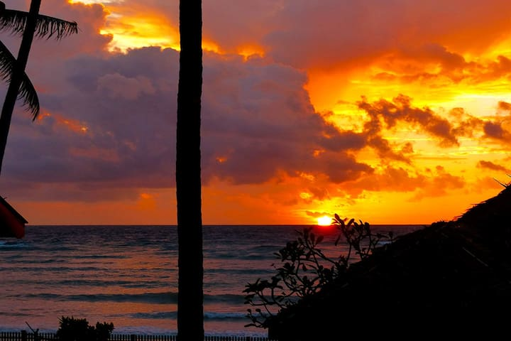 Watch a beautiful sunrise from your balcony - it's a great way to start your day!