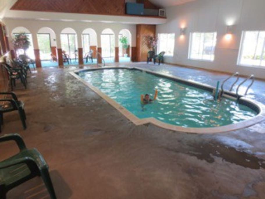 Enjoy the indoor pool at the clubhouse