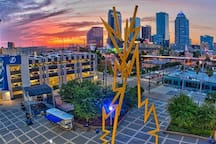 Downtown Tampa, home of the Tampa Bay Lightening & Tampa Bay Buccaneers! This city is full of performing arts, old theaters, unique restaurants and rooftop bars, outdoor parks and water-taxi rides. About 20 miles from our home.