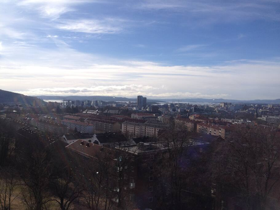 View of downtown Oslo and the fjord
