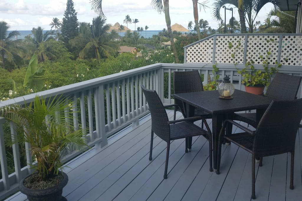 enjoy the view from the large deck.