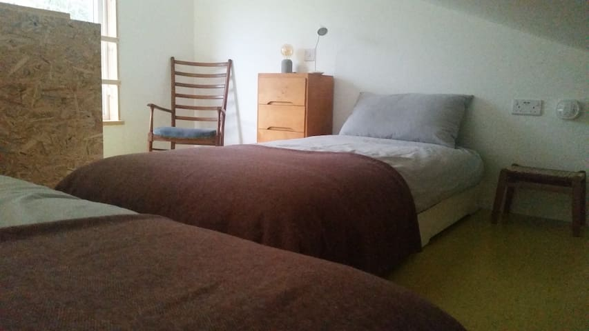 Mezzanine sleeping arrangement can be twin beds