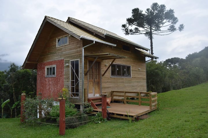 Cottage on the edge of the Canoas River - Urubici.