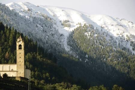 Trilocale panoramico in media valle - Poggiridenti Piano - Apartment