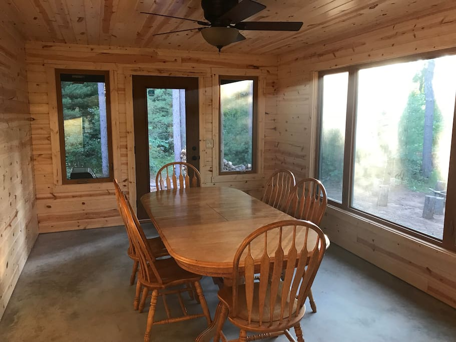 Enjoy the porch/sunroom for extra dining and quiet time.