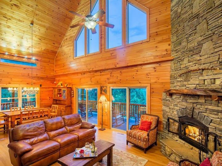Perfect luxury log mountain home-views-creek-trail