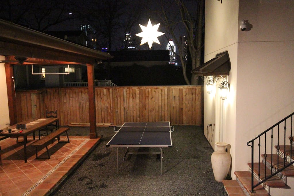 OUTDOOR PING PONG TABLE!