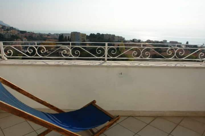 Small family holiday residence Attic apartment accommodating up to six  Two bedrooms Terrace with ve