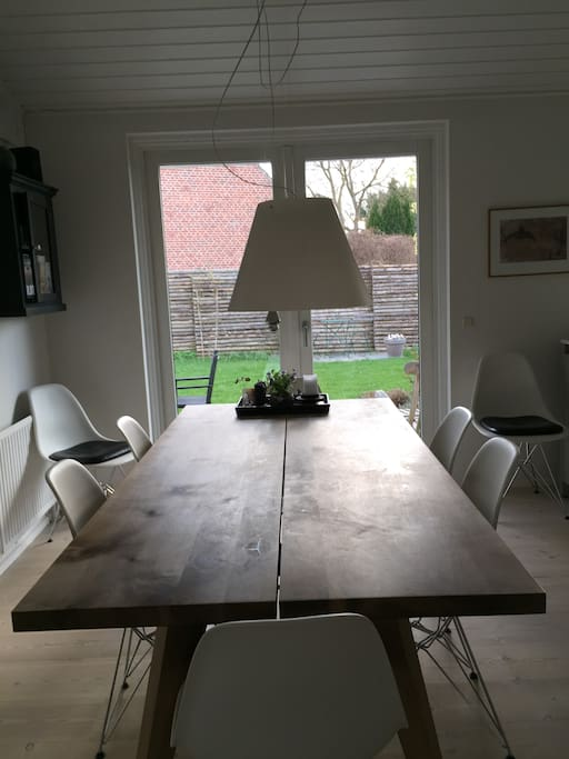 Kitchen dinner table for 8 persons
