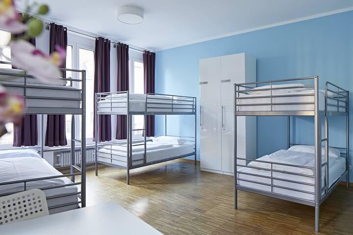 Zentral gelegene Hostel Mehrbettzimmer