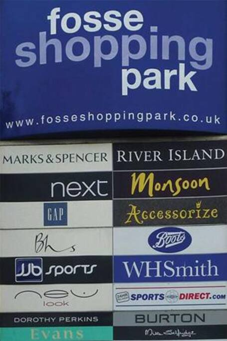Fosse shopping Park 15 mins walk