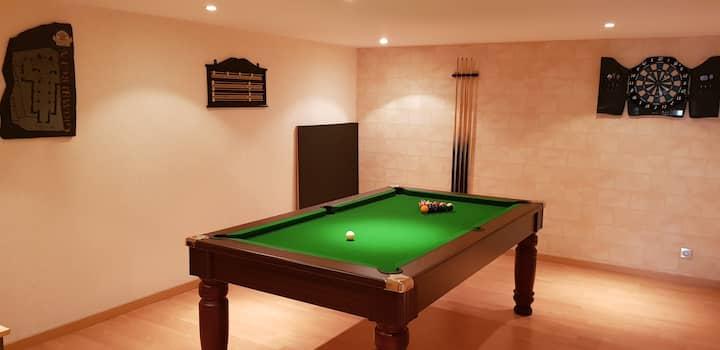Grande Villa 220 m² 8 pers 4Ch, 2Sdb, salle de jeu