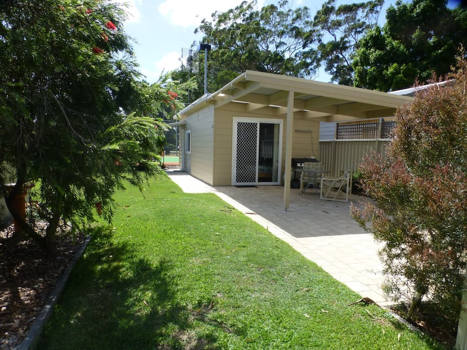 Privately situated on large residential block opposite Marina