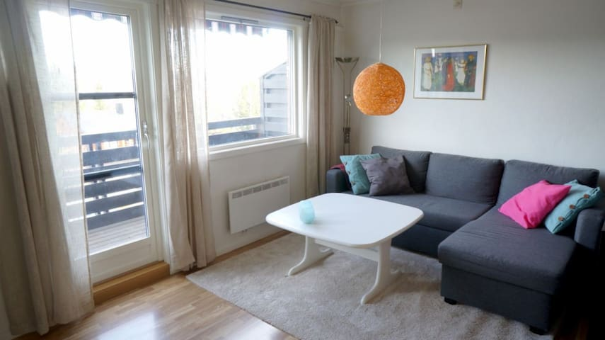 Lovely apartment at the top of Lillehammer - Lillehammer - Flat
