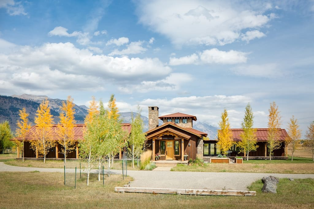 Front of Home with View of Tetons