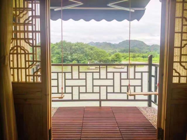 古宴画乡景区内沿江无敌江景房-清净-古朴-设施现代 - Lishui - Cabana