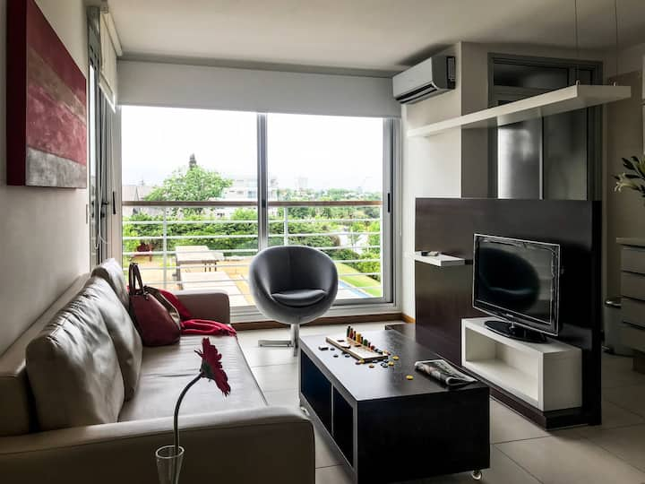 Apartamento familiar con vista al Rio