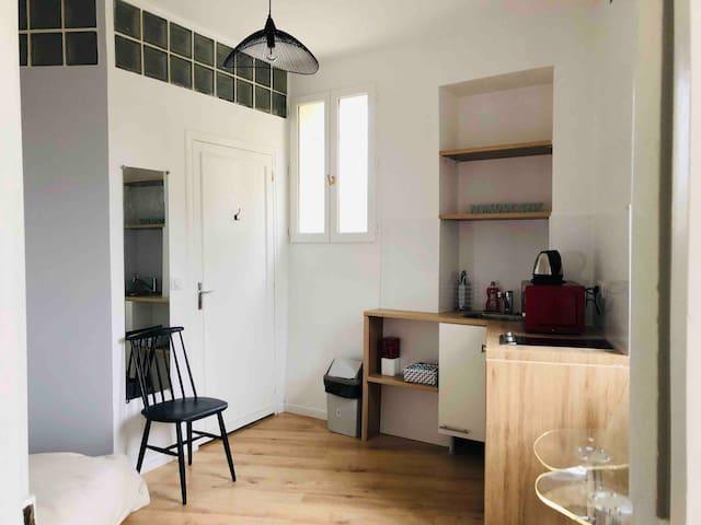Charmant studio à 2 pas des quais de Seine
