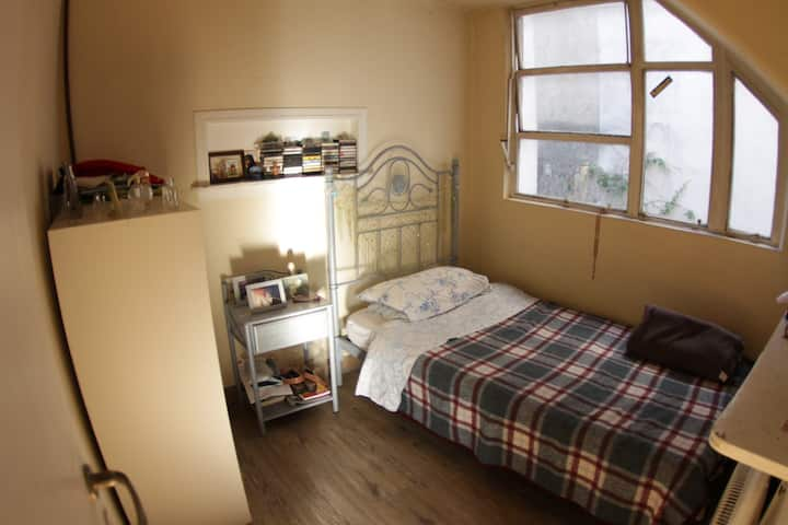 very warm and comfortable room for one person