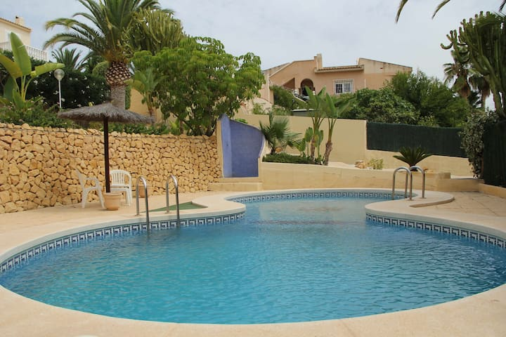 At Benidorm detached holiday villa in Altea