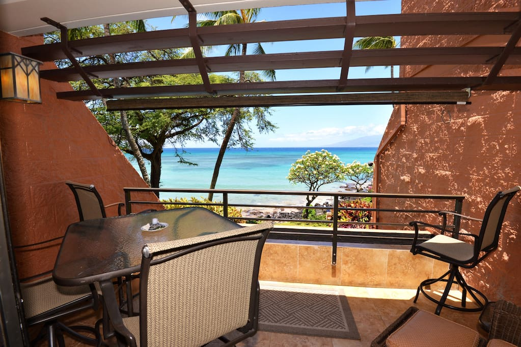 Your view from the large private lanai!