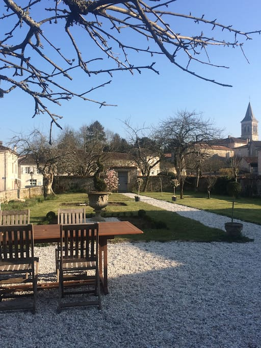 The Secret Garden - with lovely views of the old town and the 15th-century Chateau