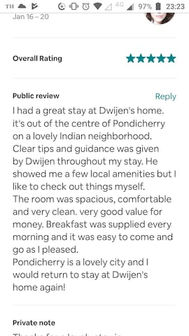 Our first review