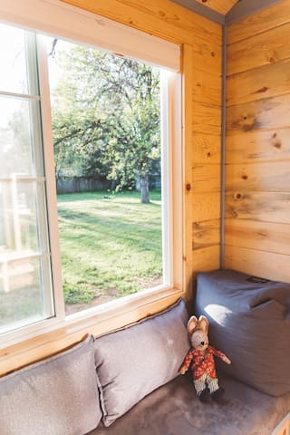RELAX - gaze out the window into the country-like setting