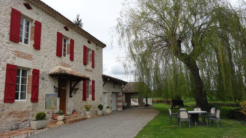 Maison de campagne piscine couverte - Brassac - Huis