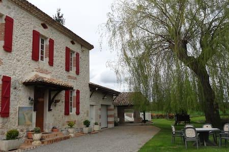 Maison de campagne piscine couverte - Brassac