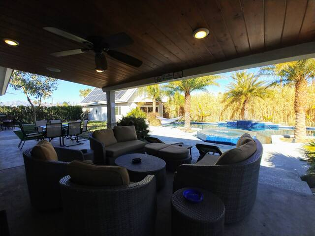 Open backyard with mountain view