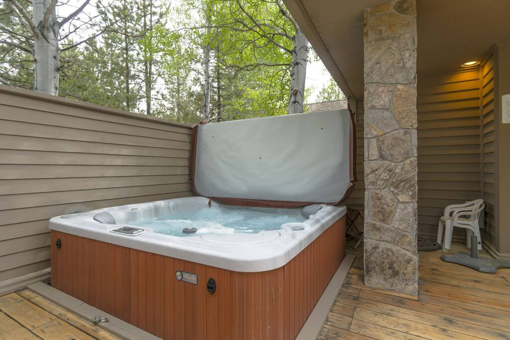 A Private Hot Tub to relax, because that`s what vacation is about